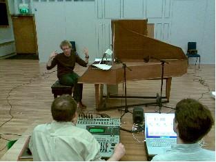 Johannes-Maria Staud rehearsing in the Recital Hall